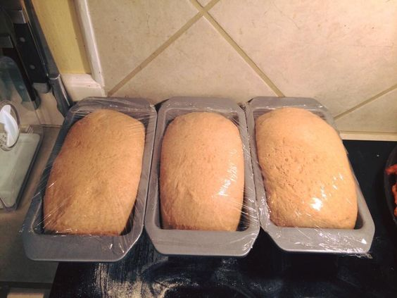 Bread Slightly sweet but very simple whole wheat bread. (Bread Becker) 2 cups hot water 1/2 cup olive oil 1/4-1/2 cup honey 6 cups fresh milled flour 3 1/2 tsp instant yeast 2 tsp salt Combine and mix hot water, honey and olive oil. Then add 3 cups of flour, yeast and salt. Mix thoroughly. Add the remaining flour and knead until smooth and elastic. (10-15 minutes) when in doubt knead, knead, knead. I kneaded in the mixer for 10 minutes and it still didn't look ready, so I kneaded it by hand…
