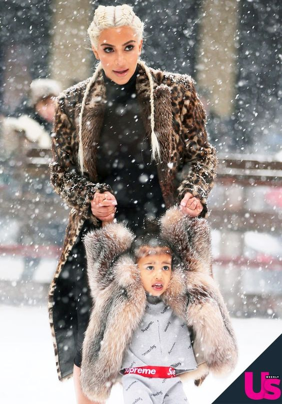 Kim Kardashian Teaches North West How to Ice-Skate: Cute Photos ...