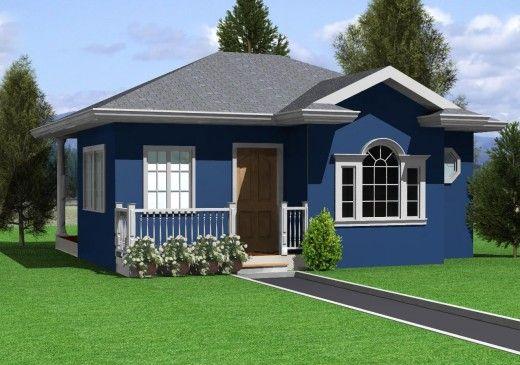 kék színű ház