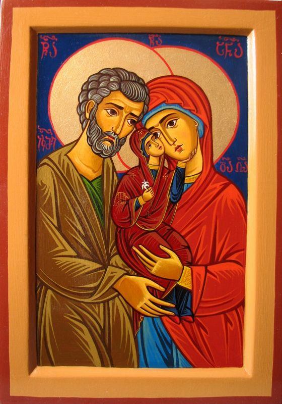 St. Anna & St. Joachim holding Mary by Tamara Rigishvili