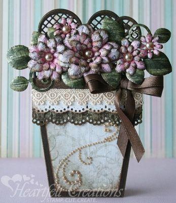 Heartfelt creations fancy fleur flower pot flower pot for Fancy flower pots
