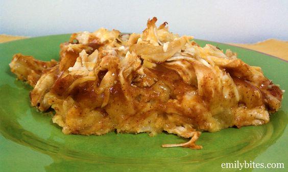 Emily Bites - Weight Watchers Friendly Recipes: Chicken Tamale Bake - 7 pp
