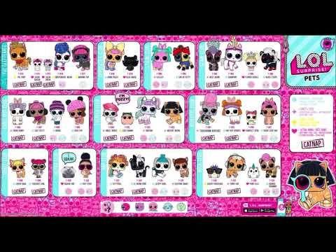 Lol Surprise Eye Spy Series Checklist All Pets Names Lol Surprise Eye Lol Pets Lol Dolls