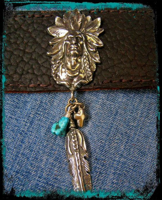 Indian Head Black Leather Charm Bracelet with by LivingFreeByEP, $34.00