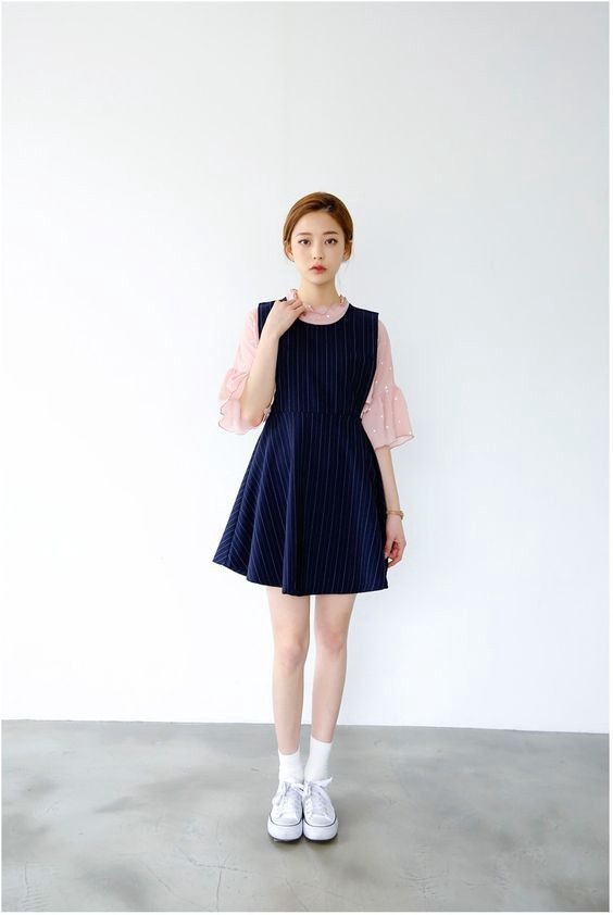 How Korea S Shirt Under Dress Trend Took The World By Storm Korean Fashion Women Korean Street Fashion Fashion