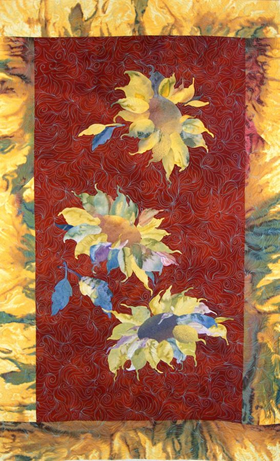 """""""Sun Dancer"""" quilted hanging"""
