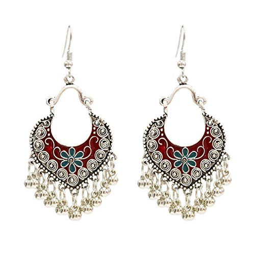 Femmes Stud d/'oreille Crystal Fleur Drop Long Dangle Boucles d/'oreilles bijoux