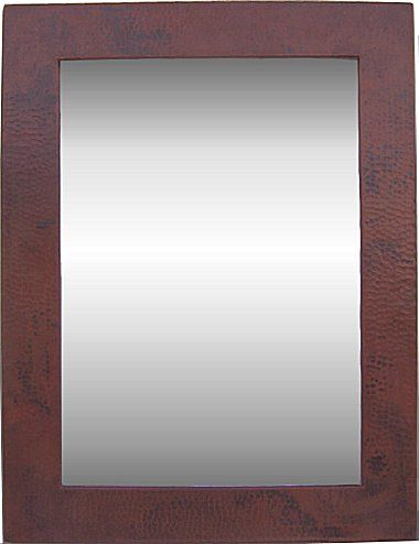 Hammered copper mirror 40 x 60 from finecraftsimports for Mirror 40 x 60