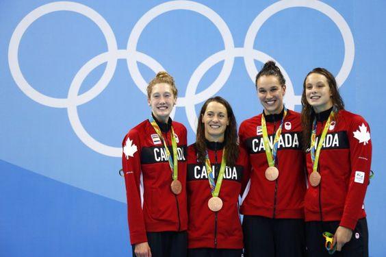 6 août 2016 - JO Rio - Une première médaille canadienne au 4 x 100 m nage libre féminin