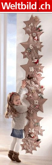 Stars. One of the great ideas for advent calendar: