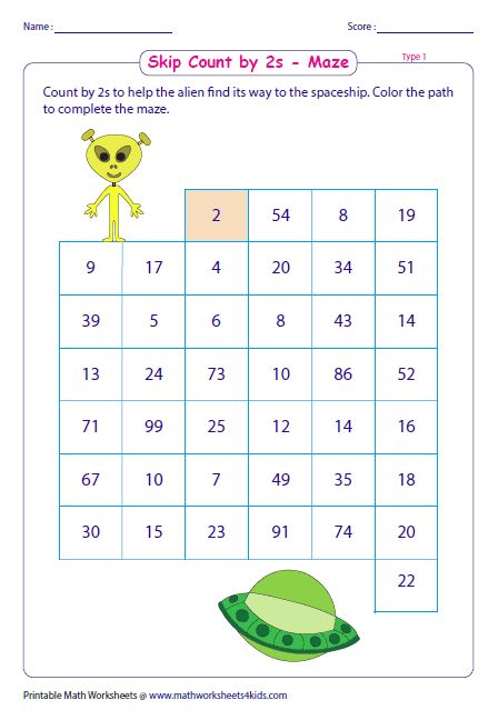 Math Maze Worksheets Counting In 2020