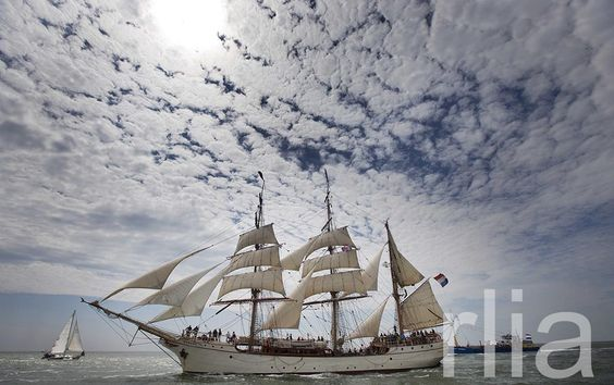 A tall ship heads for the harbor of Harlingen, The Netherlands, 03 July 2014. The harbor will be the host port of the famous Tall Ships Races 2014 that run from 03 to 06 July. EPA/JERRY LAMPEN