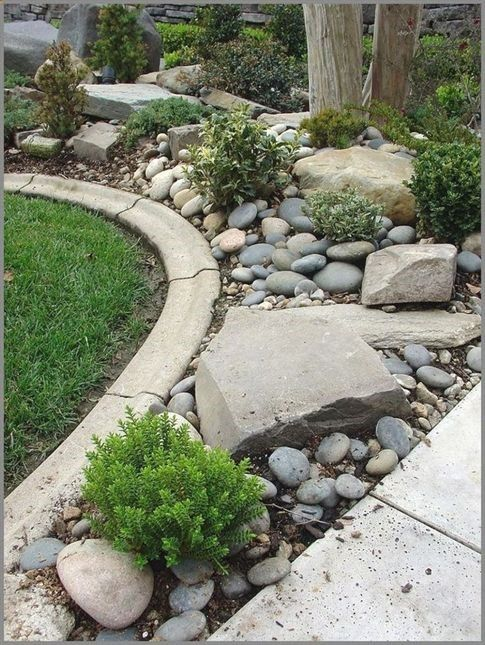 Amazing Modern Rock Garden Ideas For Backyard 82 Gardenideas All Garden Scenery Rock Garden Design Landscaping With Rocks Rock Garden Landscaping