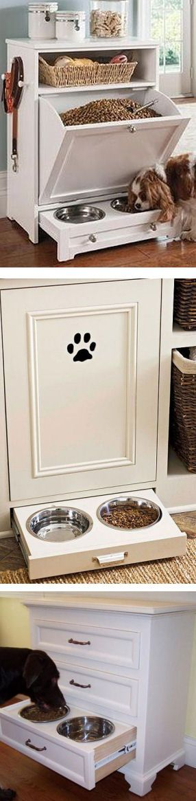Tons Of  #DIY Dog Feeding Station Instructions & Inspiration ❤︎