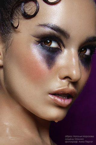 Dramatic black/purple makeup