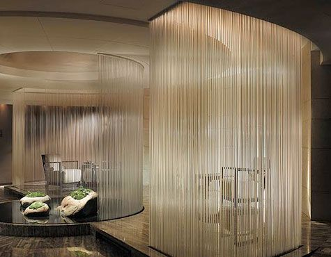 Curtains spas and water on pinterest for 7 salon miami beach