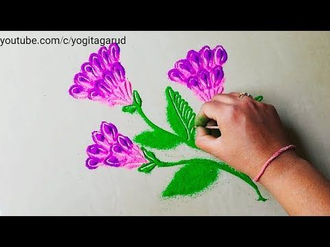 Holi Special Rangoli Design Easy And Quick Muggulu Design