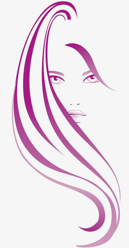 Vector Hair Hairdressing Beauty Woman Png Transparent Image And Clipart For Free Download Hair Png Silhouette Art Beauty Nails Design