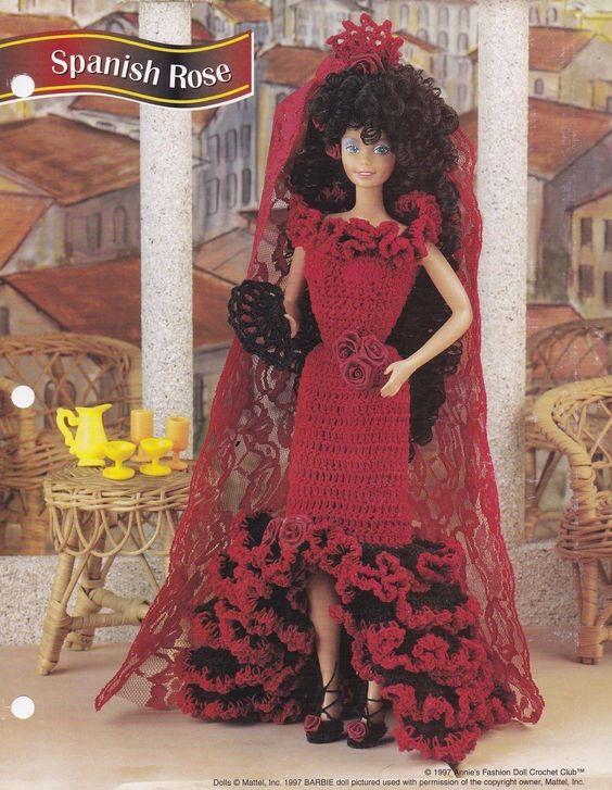 spanish rose annie s attic fashion doll clothes crochet