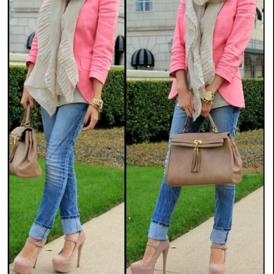 love the shoes and the blazer!