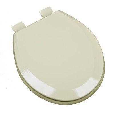 PlumbingTechnologiesLLC Molded Wood Round Toilet Seat Finish: