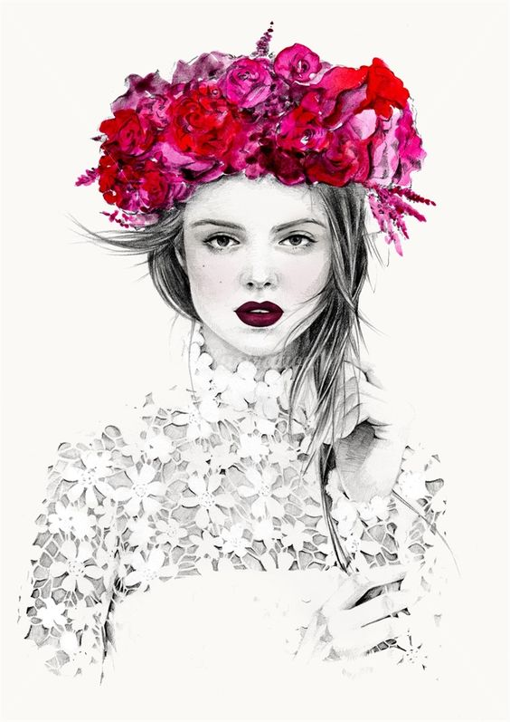 ~<3 ~*  ... Kelly Smith is a fashion illustrator, specializing in portraiture and beauty.: