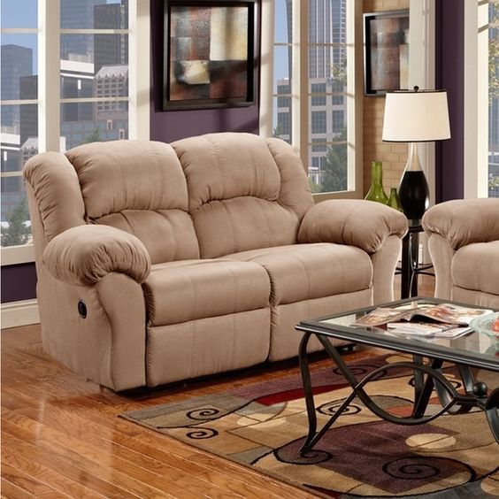 Sensation Microfiber Dual Reclining Sofa Loveseat Set, Camel Tan | For The  Home | Pinterest | Reclining Sofa, Camel And Tans