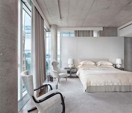 Contemporary bedroom Manhattan Loft by Shelton Mindel: