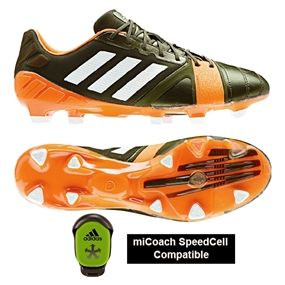 Boots for the midfield workhorse. The Earth Green and orange colors add a subtle dynamic to your feet.  Get yours today at soccercorner.com