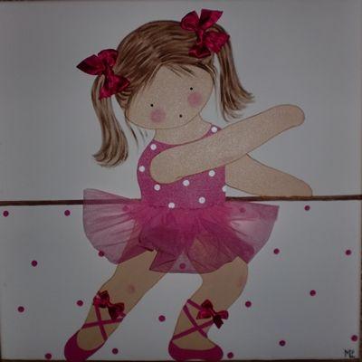 Cuadro niña bailando