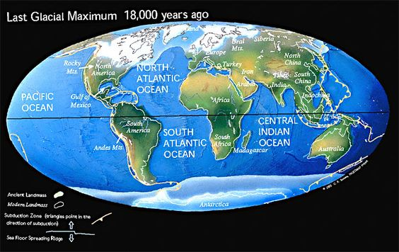 Last Glacial Maximum 18,000 years ago