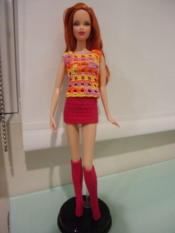 Barbie Basics Knitting Patterns : Barbie basic socks free crochet pattern pinterest