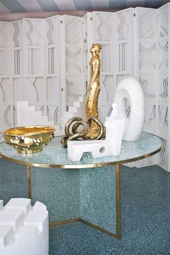 Kelly Wearstler.com | Kelly Wearstler Furniture Smoked Cracked Glass Table