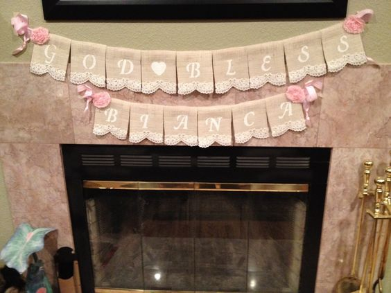 A personal favorite from my Etsy shop https://www.etsy.com/listing/220067584/god-bless-burlap-lace-name-banners