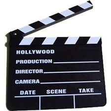 NEW Hollywood Director Clapper Clap Board TV Camera Film Movie Clapperboard