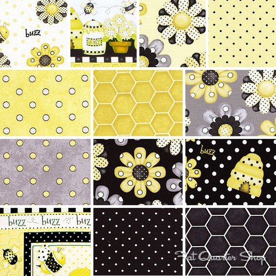 Bee Happy by Shelly Comiskey for Henry Glass Fabrics #buzzbuzz #honey #sweet