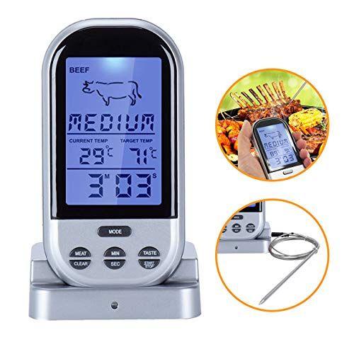 Wireless Meat Thermometer, BBQ Grill Waterproof Digital