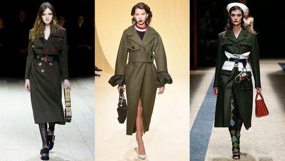 Tendance mode automne-hiver 2016-2017 manteaux militaire: