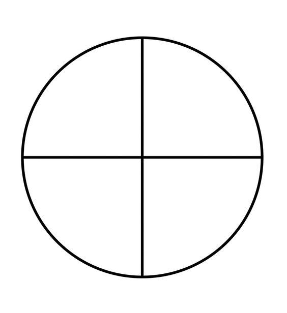 Fraction Pie Divided into Quarters | School | Pinterest ...