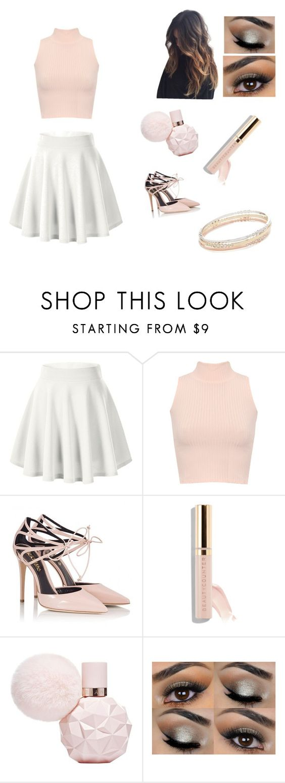 """Pink🌺"" by mialovesnoah ❤ liked on Polyvore featuring WearAll, Fratelli Karida, Beautycounter and Kate Spade"