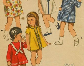 Vintage Girls Party Dress Sewing Pattern by latenightcoffee