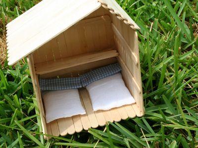 Casinha de palito de picolé | Popstick house