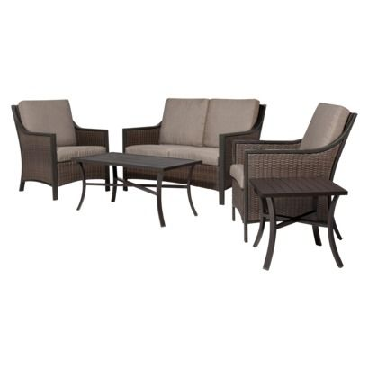 Threshold Casetta 5 Piece Wicker Patio Conversation