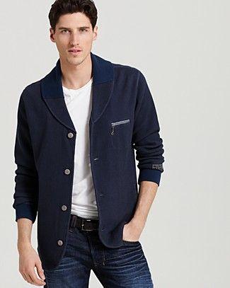 Diesel Svenus-S Shawl Collar Cardigan Sweatshirt | Bloomingdale's