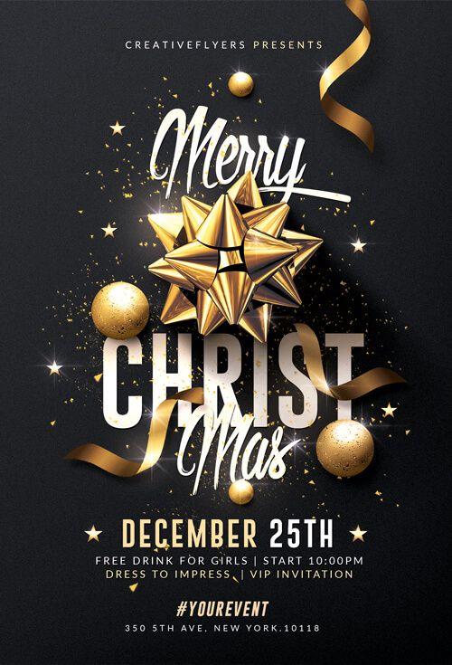 Classy Christmas Flyer Templates Psd Christmas Flyer Template