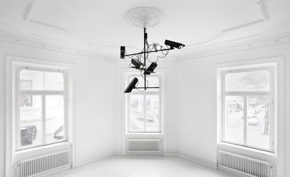 surveillance chandelier by humans since 1982 | reminds me of cctv