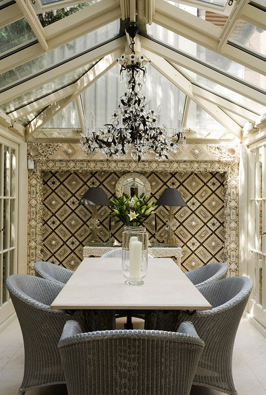 traditional home conservatory dining room with mother of. Black Bedroom Furniture Sets. Home Design Ideas