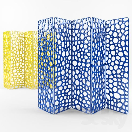 Perforated screen in a modern style