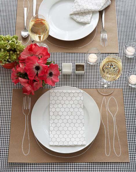 simple and sweet (plus the pattern on the napkin would make a great wallpaper for a bathroom)