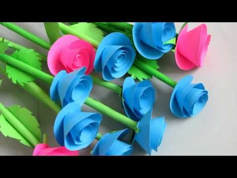 7 How To Make Small Flower With Paper Making Paper Flowers Step